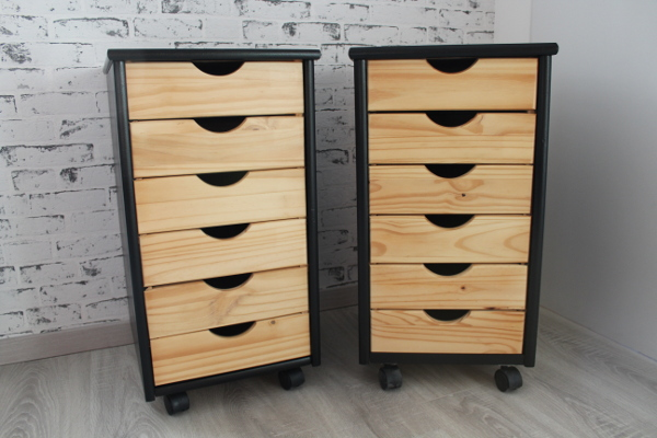 meuble tiroirs sur roulettes aurore passion d coration. Black Bedroom Furniture Sets. Home Design Ideas