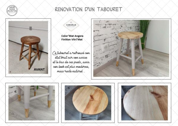 Rénovation d'un tabouret