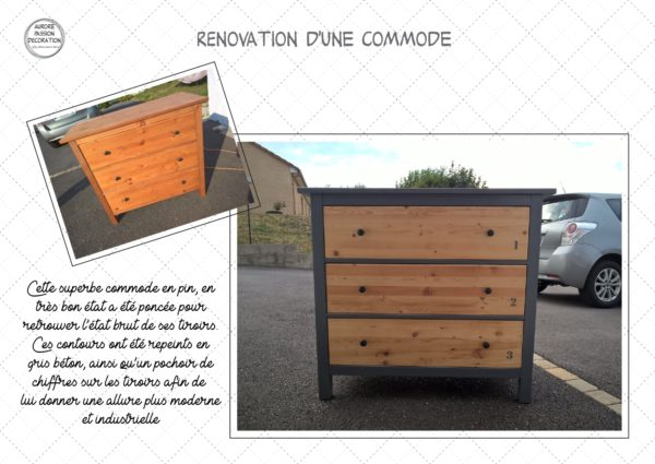 Rénovation d'une commode